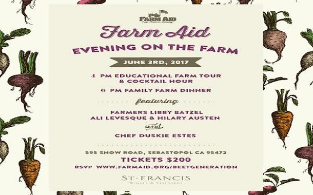 Farm Aid Evening at Beet Generation Farm