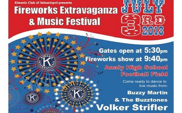 Sebastopol Fireworks Show